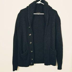 Lachlan Small Blue Wool/Nylon Button Sweater